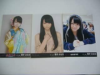 AKB48 フライングゲット・風は吹いている・GIVE ME FIVE! 写真 峯岸みなみ 3枚セット