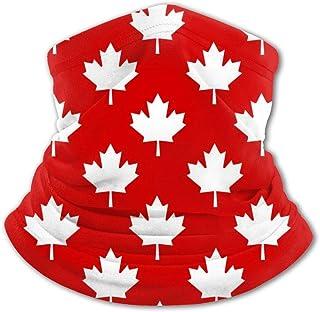 Pasamontañas para cuello con diseño de hojas de arce, protección UV, resistente al viento, multifunción, para niños y niñas