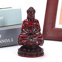 Head Sculptures Busts 10.5Cm Shakyamuni Buddha Statue Small Model Resin Carving Art Sculpture Crafts Home Desktop Decorati...