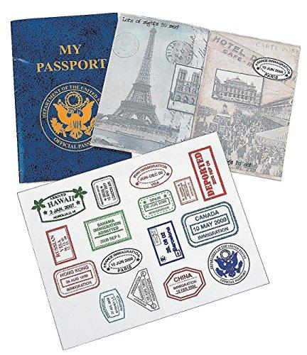Fun Express PASSPORT STICKER BOOK (1 DOZEN) - BULK