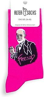 Altersocks, Sigmund Freud - Calcetines unisex de fantasía y coloridos de algodón, talla única (36 a 45)