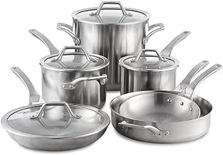 Calphalon Signature 10 Piece Set Stainless Steel Cookware, Silver