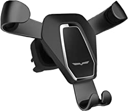 Newest Car Phone Gravity Holder, Fit-Fun Air Vent Mount Cell Phone Holder with 360 degree Spring Clip Car Cradle Mount Mobile Phone Stand for iPhone X/8/8Plus/7/7Plus/6s/6Plus/5S Smartphone (Black)