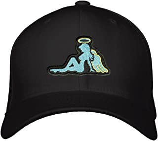 Angel Mudflap Girl Hat - Adjustable Black Cap