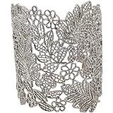 Quata Pulseras ajustables del brazalete del cordón de la vendimia de las mujeres de plata