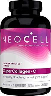 Neocell Super Collagen+C, Type 1 & 3-6,000 mg, 250 Tablets