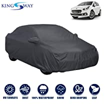 Kingsway Dust Proof Car Body Cover with Mirror Pockets For Fiat Punto Evo (Model Year : 2002-2019)