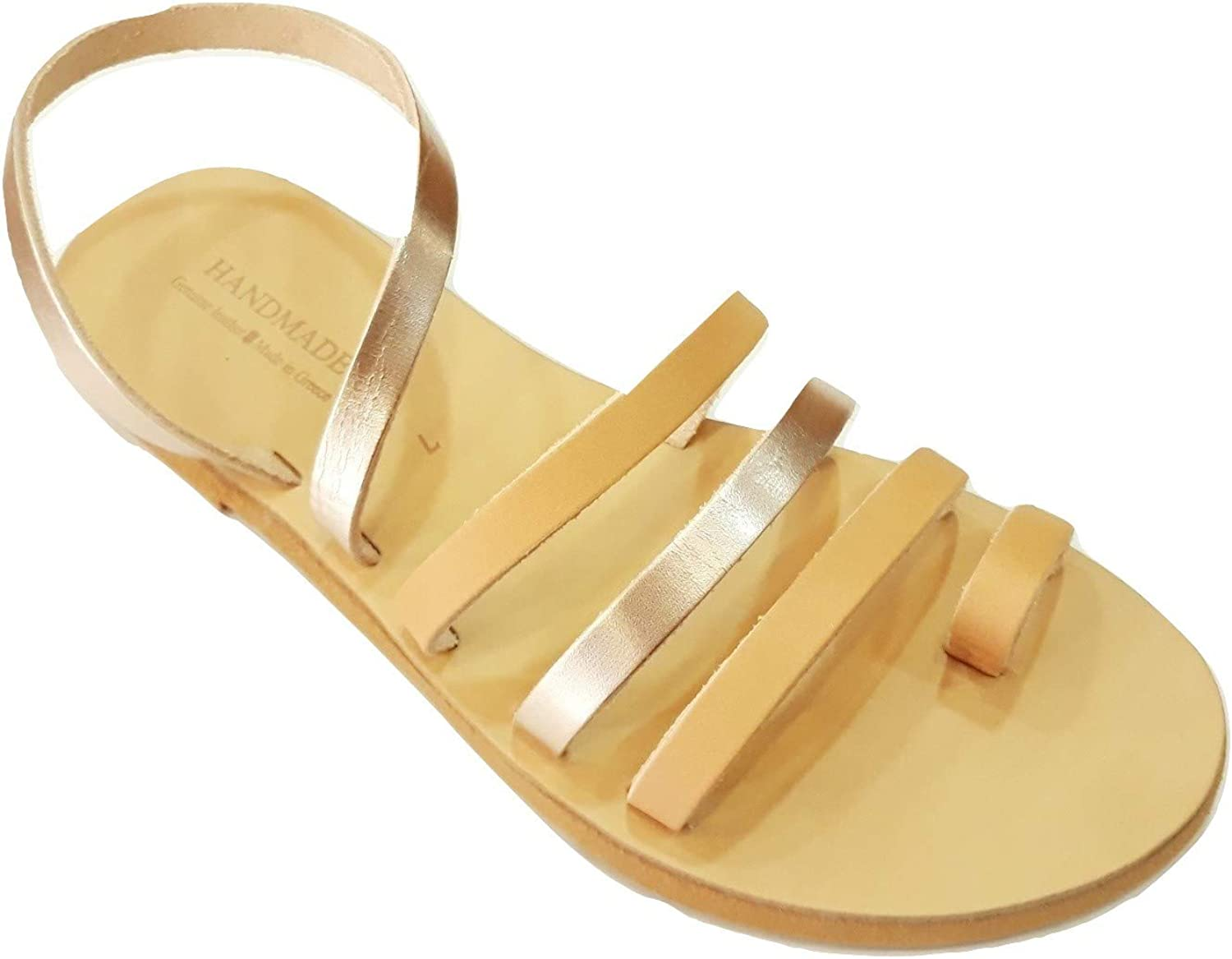 Greek Leather Seals Theia donna Hefatto Ancient Style Slide Flat Summer Spartan Rouomo Genuine Hecrafted Toe Ring Boho moda sautope