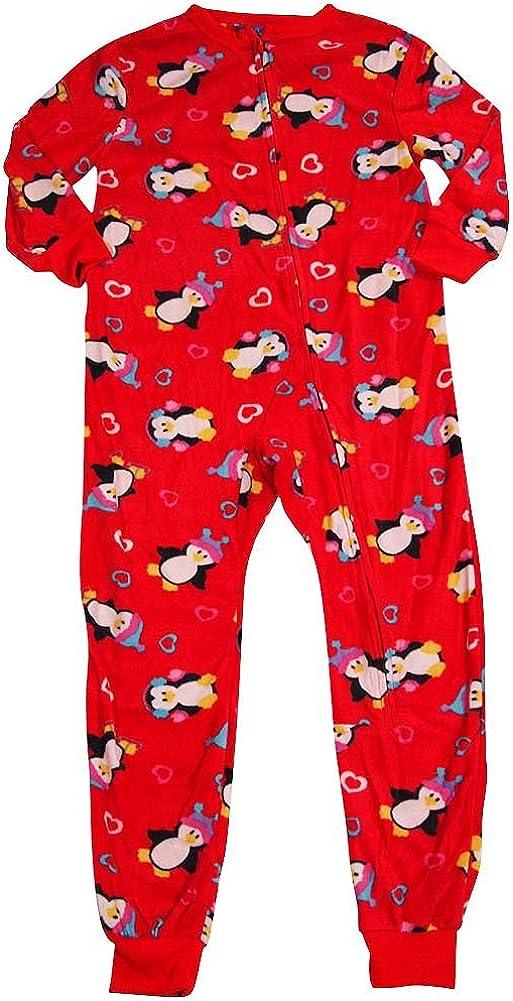Private Label Sweet Dreams - Little Girls' Long Sleeve Penguin Blanket Sleeper