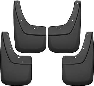 Husky Liners Fits 2014-18 GMC Sierra 1500, 2019 GMC Sierra 1500 Limited, 2015-19 GMC Sierra 2500/3500 - SINGLE REAR WHEELS Custom Front and Rear Mud Guard Set