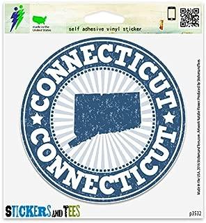 Connecticut Vinyl Car Bumper Window Sticker 2