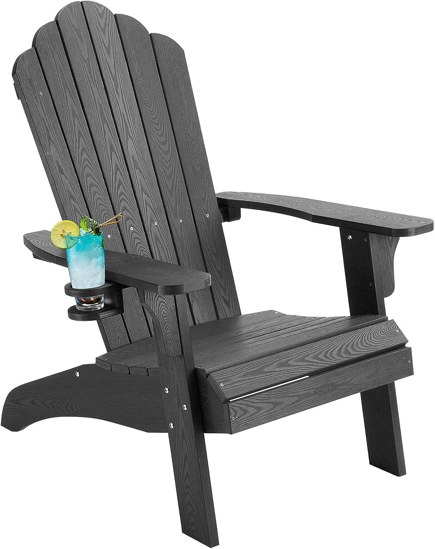 hOmeHua Oversized Kansas City Portland Mall Mall Plastic Weather Chair Adirondack Resistant wit