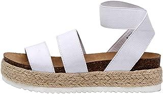 Best espadrille white sandals Reviews