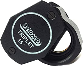Ade Advanced Optics Premium Lighted 10x21 Triplet Lens Color Jewelers Loupe with Leather Case