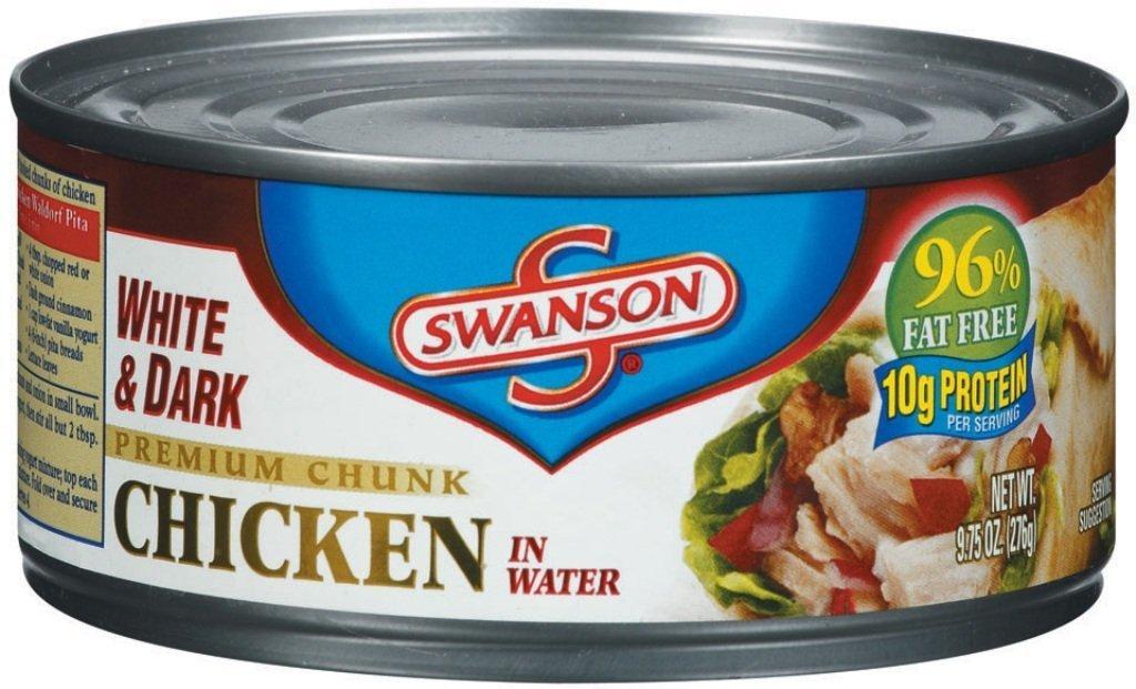 Swanson White  Dark Premium Chunk Chicken in Water 9.75oz Can (