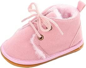 Fnnetiana Multicolor Unisex Baby Warm Non-Slip Soft Sole Boots Infant Prewalker Nursling Snow Shoes
