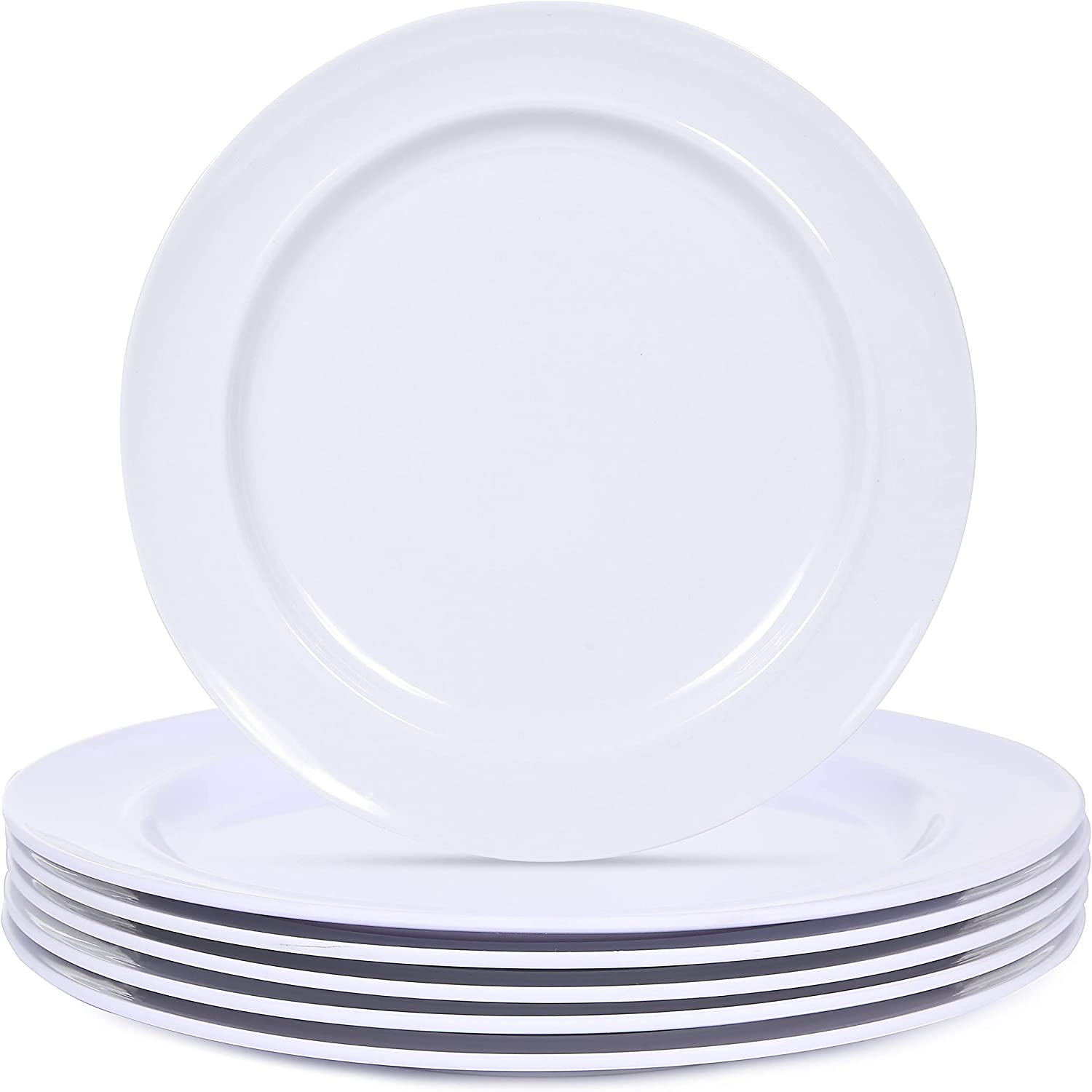 Melamine Max 43% SEAL limited product OFF Dinner Plates 11inch White Set RV Camper Dishe