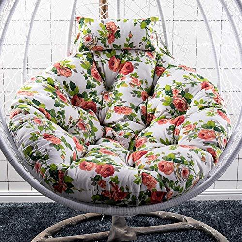 N /A Silla de ratán, cojín de hamaca, cojín para silla de columpio, cojín redondo de mimbre para colgar en silla de ratán para muebles de exterior (solo cojín) - q 105 x 105 cm