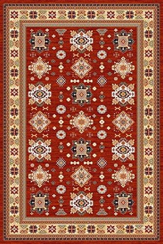 Erdenet Carpet Tappeto Salotto Orientale 200x300 cm, Lana, Rosso (Rosso, 200_x_300_cm)