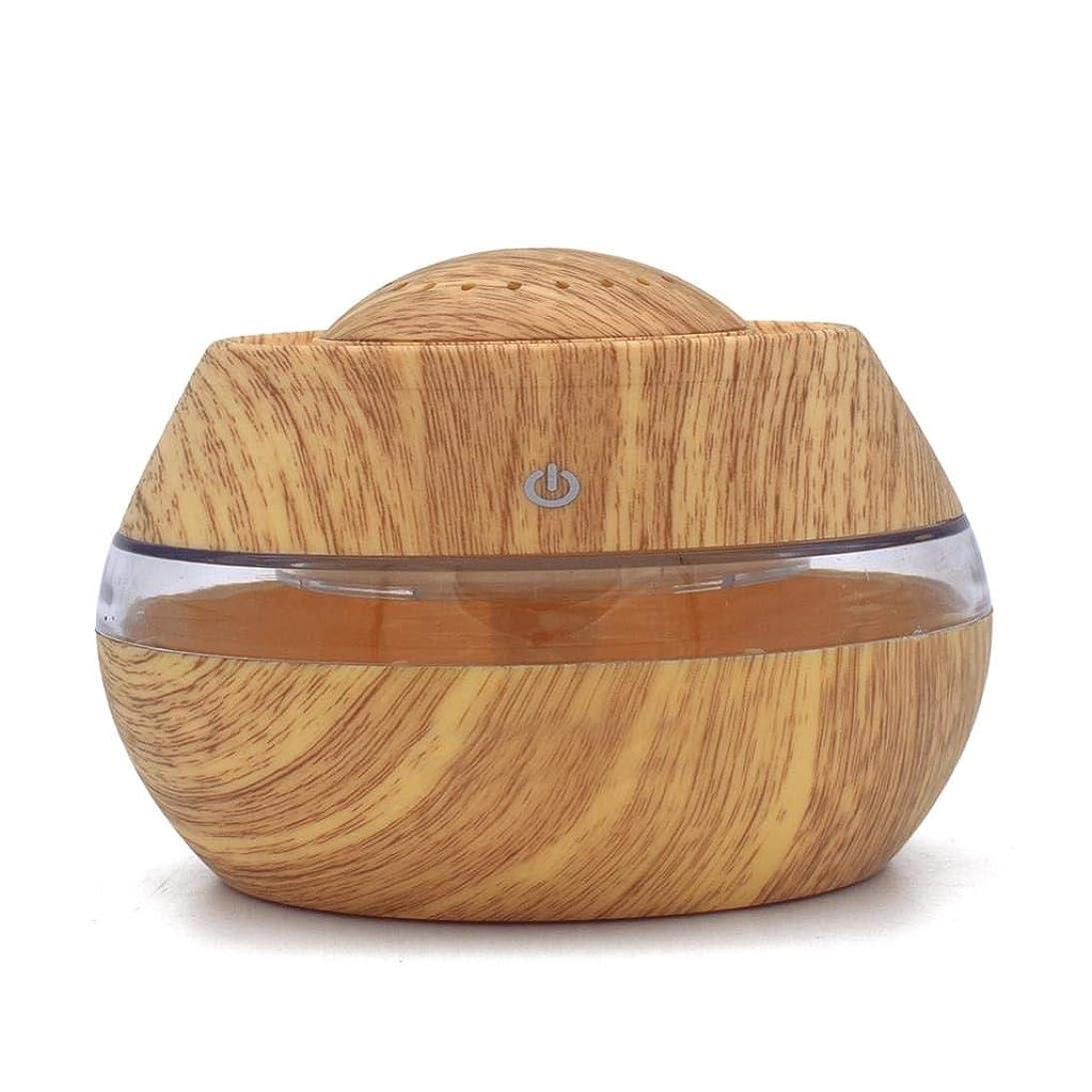 ドリンク思い出す恐ろしい芳香 拡張器 清涼 薄霧 加湿器 騒音36dB 以下 ミスト アロマ フレグランス 癒し リラックス 調光 LED 寝室 (Color : Light wood)