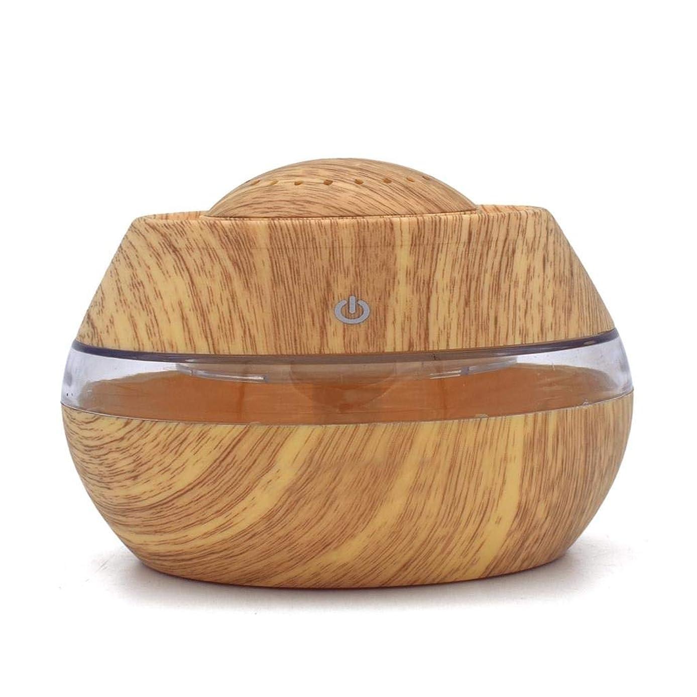 位置する友情ヘルメット芳香 拡張器 清涼 薄霧 加湿器 騒音36dB 以下 ミスト アロマ フレグランス 癒し リラックス 調光 LED 寝室 (Color : Light wood)