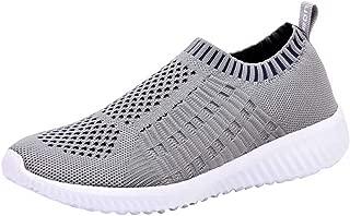 Women's Sock Walking Shoes - Comfortable Mesh Slip on Easy Sneakers