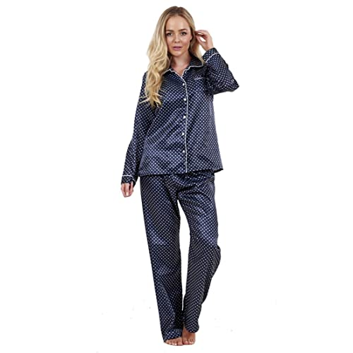 52a67fad37 Love to Lounge Ladies Stunning Printed Satin Pyjamas Womens Long Sleeve  Nightwear Silk PJ s