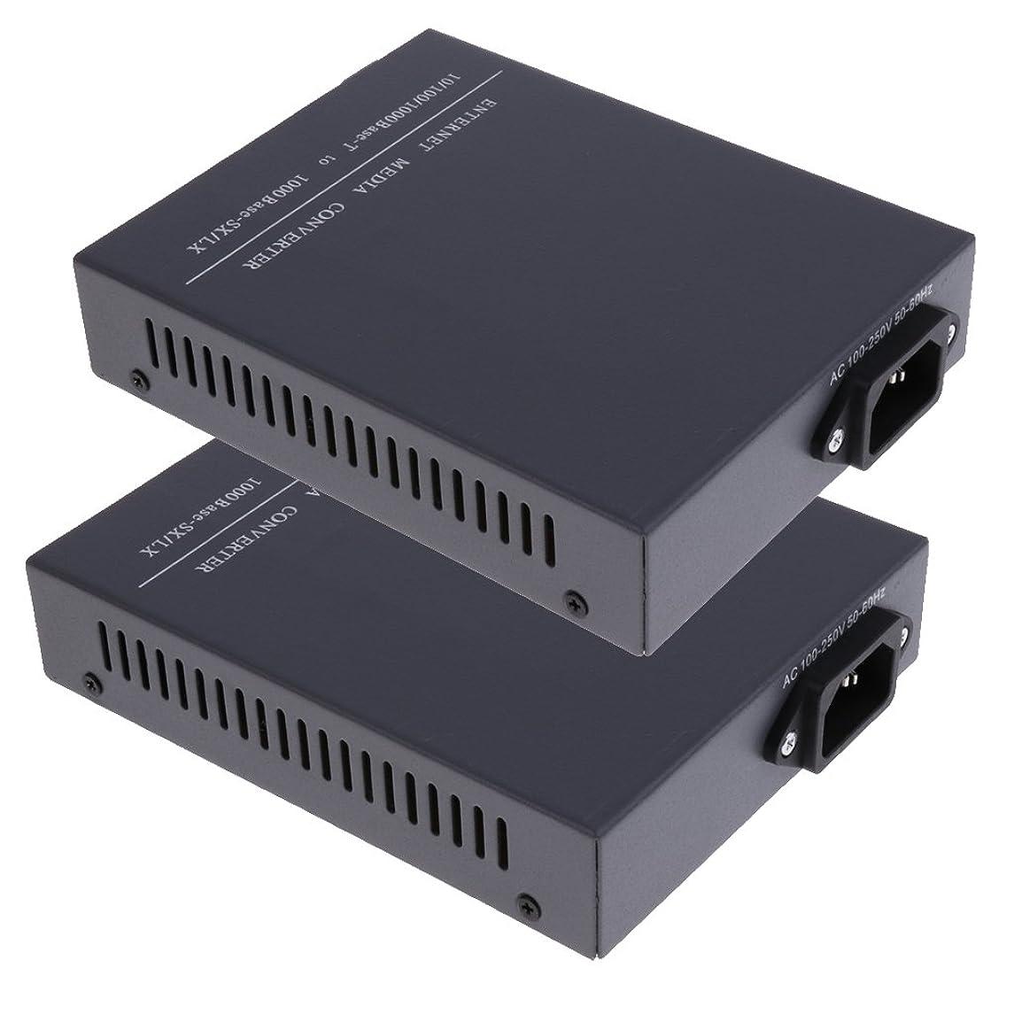 特異なフレット整理するHomyl 1000Mbps ギガビット イーサネット シングル モード SC 光ファイバ メディア コンバータ 最大20km