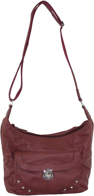 Fresno Mall Goson Leather Concealed Gun Carrying Buckled Atlanta Mall Handbag Purse Front