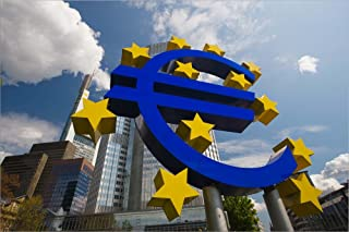 Euro Sign, Frankfurt, Germany (Horizontal) by Panoramic Images Laminated Art Print, 45 x 30 inches