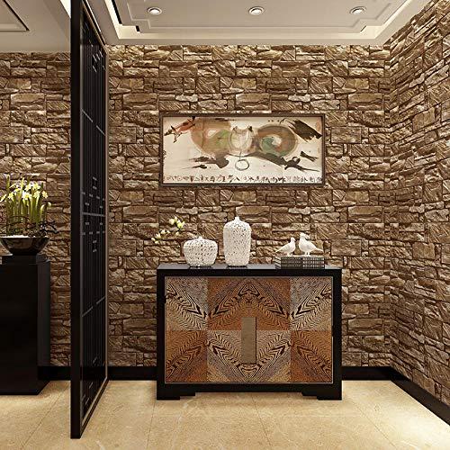 Marmer behangpapier voor onszelf behang waterdicht marmer baksteen patroon zwart groen baksteen Chinese 3D behang behang plakken woonkamer plakken de muur 400cm×280cm