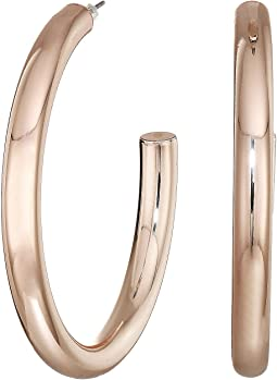 Large Ring Drop Hoop Earrings