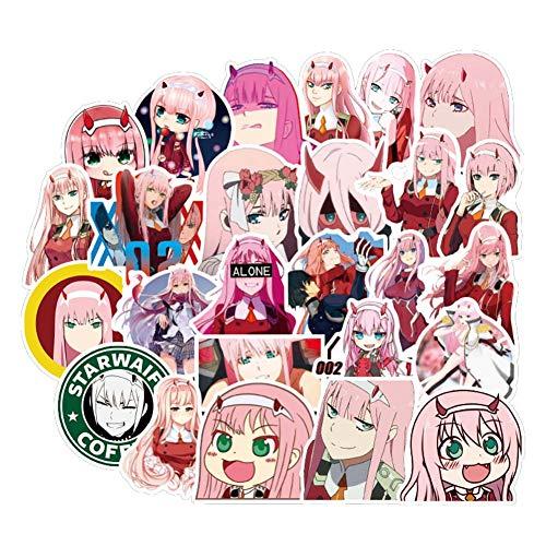 ALTcompluser 50 stk Anime DARLING in the FRANXX Stickers Wasserdicht Vinyl Aufkleber für Laptop, Macbook, Gepäck, Skateboard