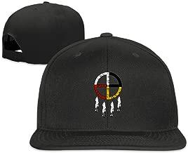 Native American Medicine Snapback Hat Solid Flat Bill Baseball Caps Unisex Black