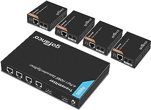 gofanco Prophecy 1×4 HDMI Extender Splitter 1080p Over Cat5e/Cat6/Cat7 Ethernet..