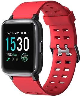 Smartwatch, Impermeable Reloj Inteligente con Cronómetro, Pulsera Actividad Inteligente para Deporte, Reloj de Fitness con Podómetro Smartwatch Mujer Hombre niños para Xiaomi HuaweiI Teléfono