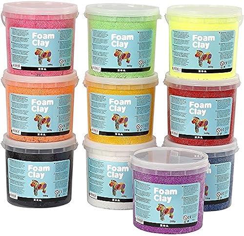 NEU Foam Clay 10x560 g, sortierte Farben