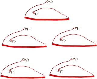 F Fityle 5X Red Wire Core Fishing Lanyards Kayak Boating Camping Secure Cord Grip Lip
