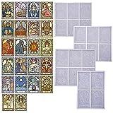 Germplasm Tarot Cards - Moldes de silicona con colgante de cristal, diseño de espejo epoxi, para hacer joyas personalizadas, collares, pulseras y joyas