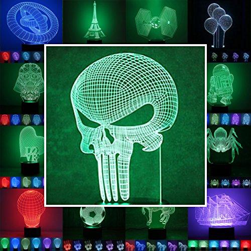 Designscheibe/Motivscheibe für 3D Lampe 3D Leuchte 3D LED Stimmungslicht in vielen verschiedenen Designs, hier Alien 2 ca. 24x13cm NUR Scheibe OHNE Sockel