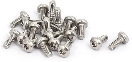 uxcell M2.5 x 6mm 304 Stainless Steel Torx Pan Head Screws Bolts Fasteners 20pcs