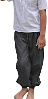 Kids Pirate Costume Pants (Medium (6-8 yrs)) Black