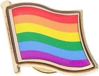 F Fityle Rainbow Flag Friendship Pin Badge Pride LGBT Brooch Gay Diversity