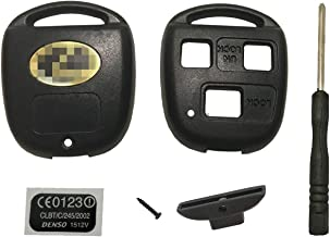 New Replacement 3 Buttons Keyless Entry Remote Control Key Fob Shell for Lexus ES GS GX IS LS LX RX SC Key Fob Case Cover NO Cutting Required Using Your Fob Key And Chip