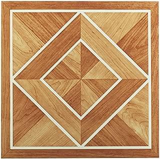 Achim Imports FTVWD20545 Tivoli White Border Classic Inlaid Parquet 12x12 Self Adhesive Vinyl Floor Tile-45 Tiles/45 sq. ft, Piece, 45
