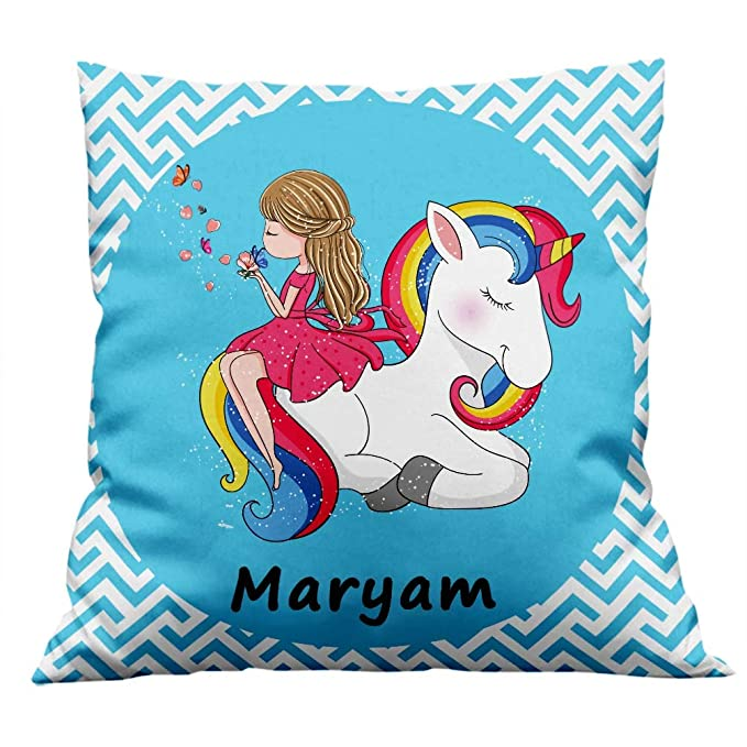 Furnishfantasy Unicorn Cushion Cover with Filler