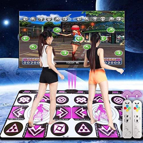 Doble Dance Pad/Dance Pad Wii/Computadora/TV Uso Dual, Baile Familiar para Bajar de...