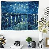 NHhuai Tapiz para Colgar en la Pared, Tapestry, Impresión de Pared de Fondo Estrellado hogar