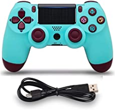 PS4 Controller MOVONE Wireless Controller with USB Cable for Playstation 4 (Berry Blue)
