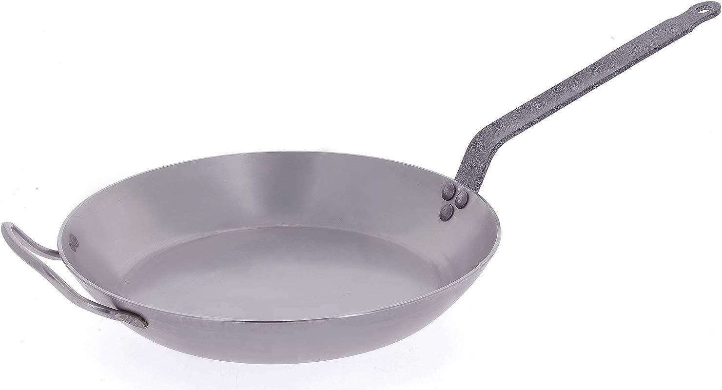 DeBuyer Carbon Steel Frying Pan 15 3 4 Inch Diameter 5110 40